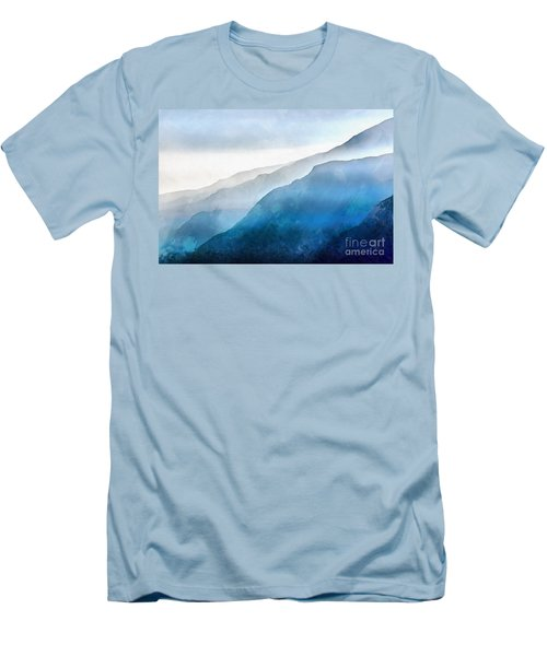 Men's T-Shirt (Athletic Fit) featuring the painting Blue Ridge Mountians by Edward Fielding