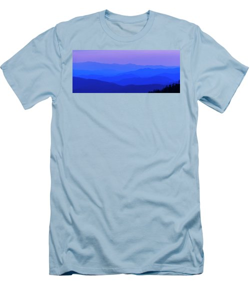 Blue Ridge Spring 08 Men's T-Shirt (Slim Fit) by Kevin Blackburn