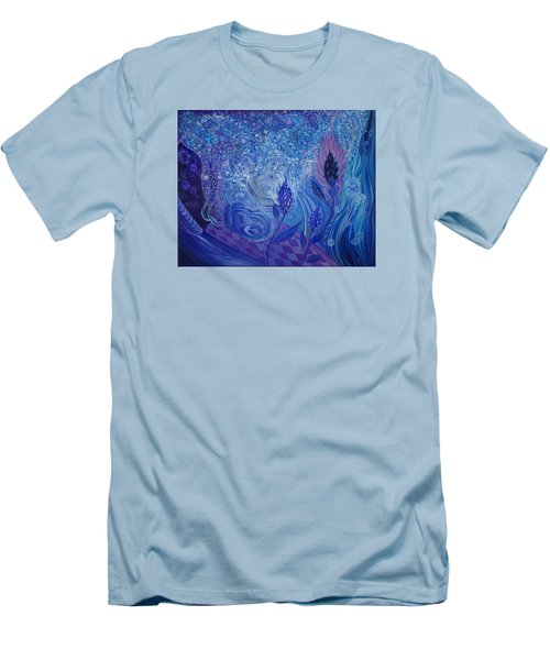 Blue Rosebud Ballroom Men's T-Shirt (Slim Fit) by Adria Trail