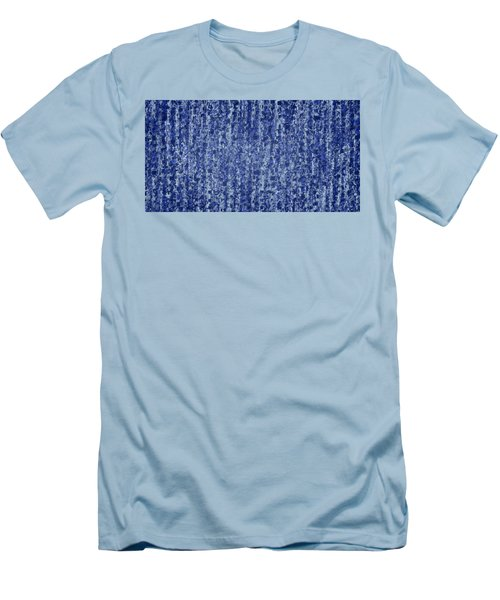 Blue Squared Code Men's T-Shirt (Athletic Fit)