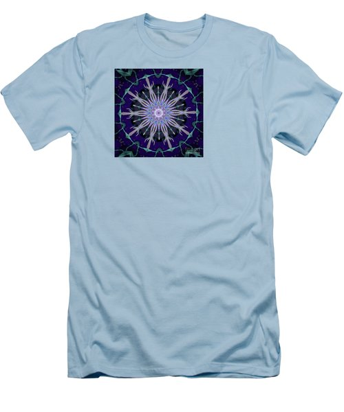 Men's T-Shirt (Slim Fit) featuring the photograph Blue Star by Shirley Moravec