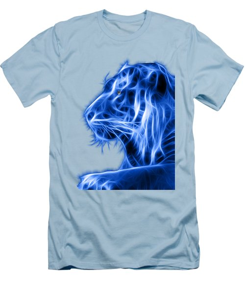 Men's T-Shirt (Slim Fit) featuring the photograph Blue Tiger by Shane Bechler