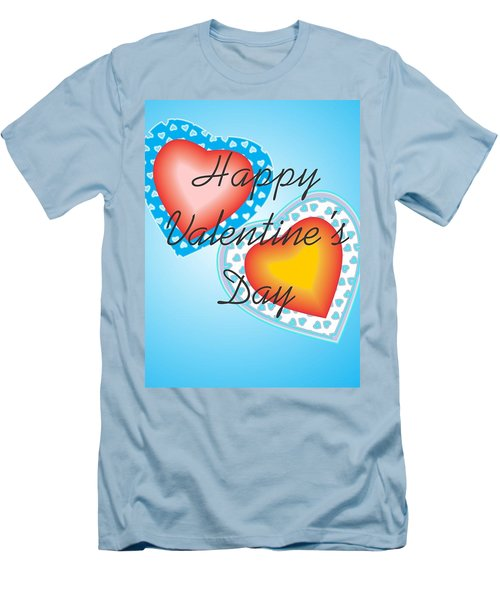 Blue Valentine Lace  Men's T-Shirt (Slim Fit) by Sherril Porter