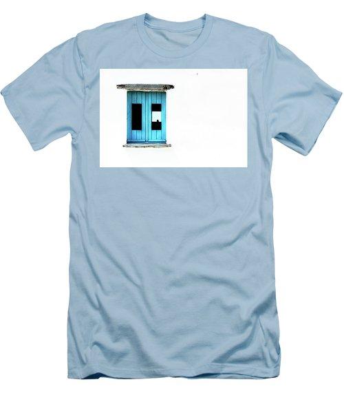 Men's T-Shirt (Slim Fit) featuring the photograph Blue Window by Edgar Laureano
