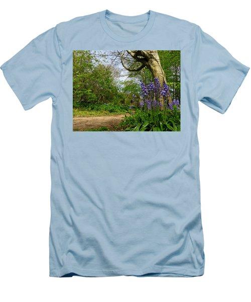 Bluebells By The Tree Men's T-Shirt (Slim Fit) by John Topman