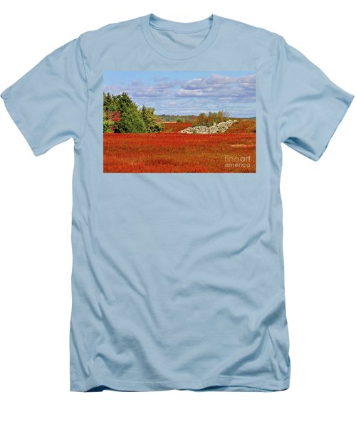 Blueberry Field Men's T-Shirt (Athletic Fit)