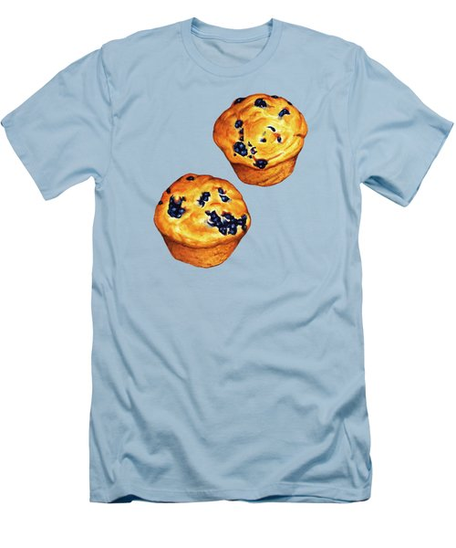 Blueberry Muffin Pattern Men's T-Shirt (Slim Fit) by Kelly Gilleran