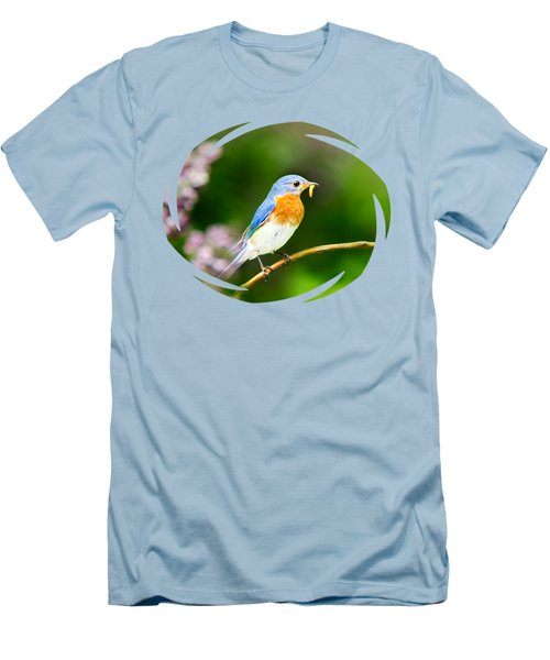 Bluebird Men's T-Shirt (Slim Fit) by Christina Rollo