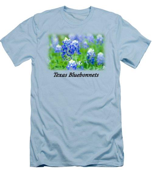 Bluebonnet With Font T-shirt Men's T-Shirt (Athletic Fit)