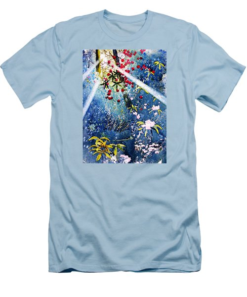 Blues And Berries Men's T-Shirt (Athletic Fit)