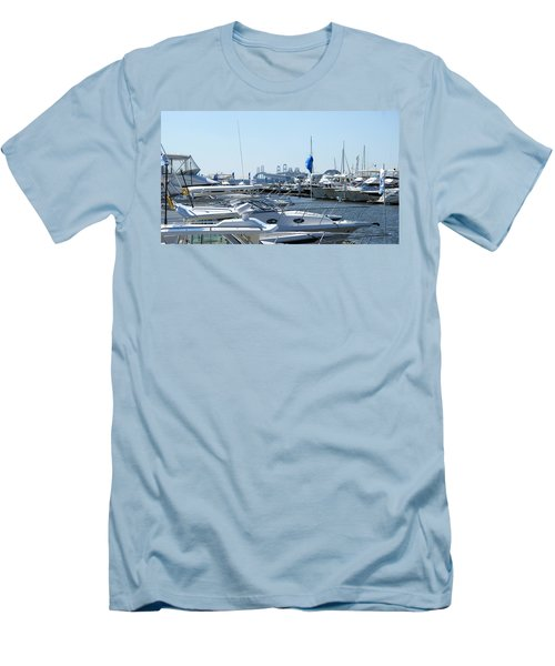 Men's T-Shirt (Athletic Fit) featuring the photograph Boat Show On The Bay by Charles Kraus