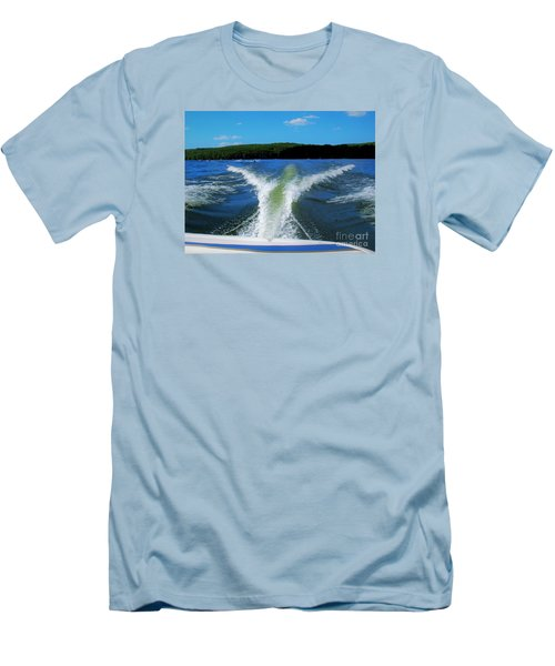 Boat Wake Men's T-Shirt (Athletic Fit)
