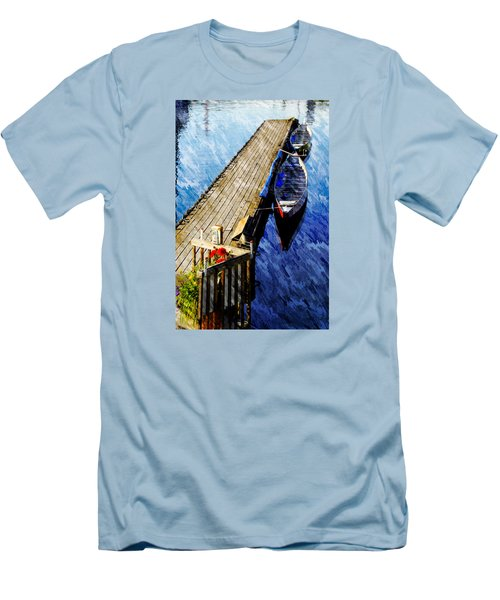 Boats At Rest Men's T-Shirt (Slim Fit) by Bill Howard