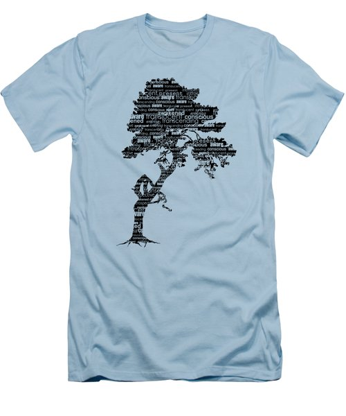 Bodhi Tree Of Awareness Men's T-Shirt (Slim Fit) by Tammy Wetzel