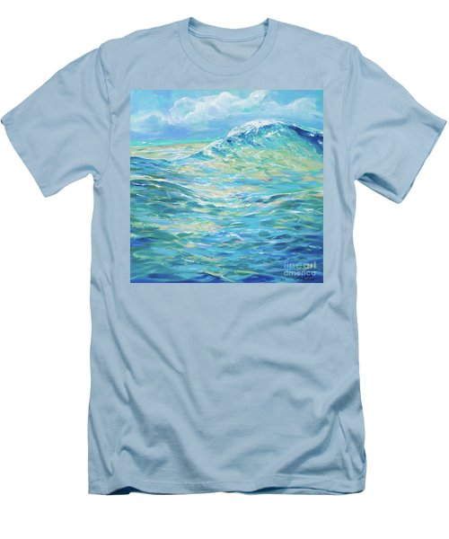 Bodysurfing Rolling Wave Men's T-Shirt (Athletic Fit)