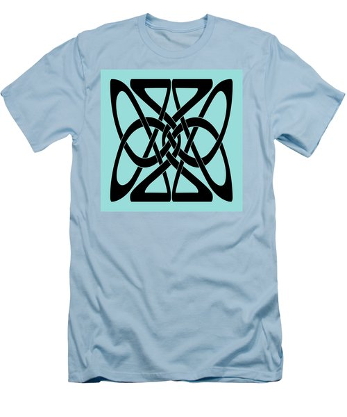 Men's T-Shirt (Slim Fit) featuring the digital art Bold Black Celtic Knot by Jane McIlroy