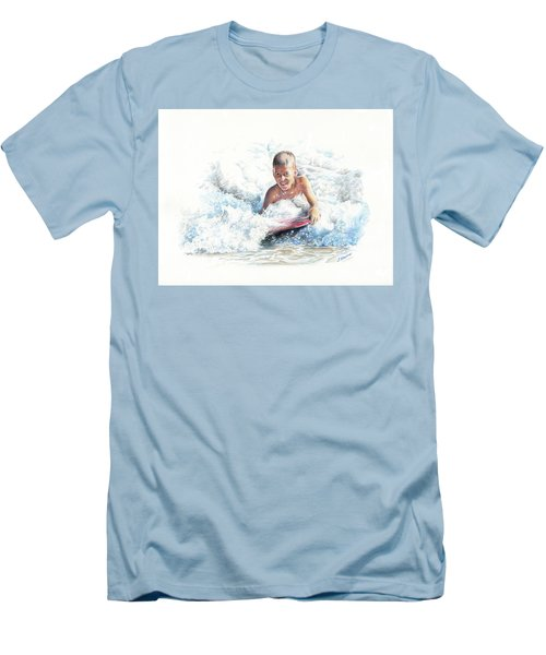 Boogie Boarding Men's T-Shirt (Athletic Fit)