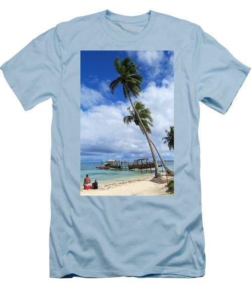 Bora Bora View Men's T-Shirt (Athletic Fit)