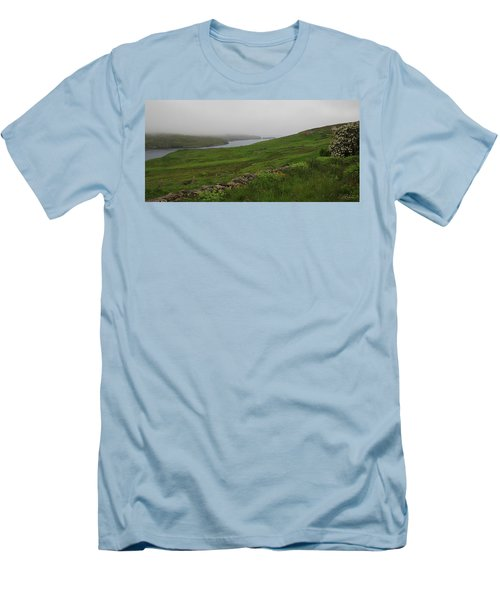 Borrowston Morning Clouds Men's T-Shirt (Athletic Fit)