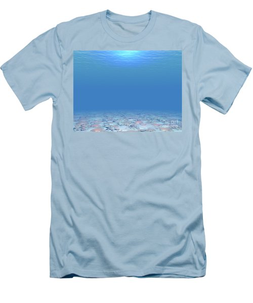 Men's T-Shirt (Slim Fit) featuring the digital art Bottom Of The Sea by Phil Perkins