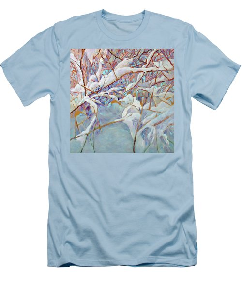 Men's T-Shirt (Slim Fit) featuring the painting Boughs In Winter by Joanne Smoley