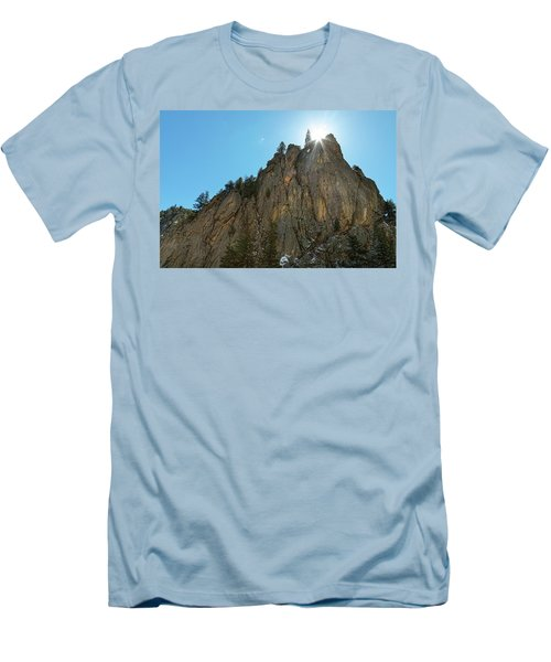 Men's T-Shirt (Slim Fit) featuring the photograph Boulder Canyon Narrows Pinnacle by James BO Insogna