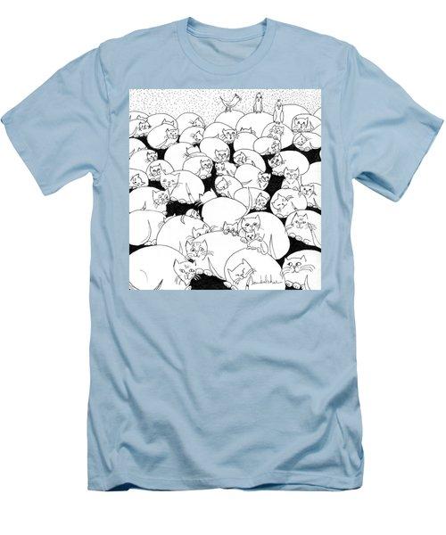 Boulder Cats Men's T-Shirt (Slim Fit) by Lou Belcher