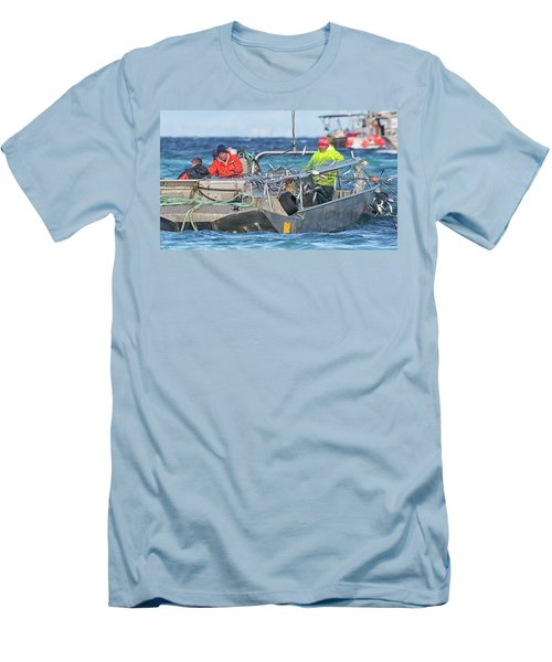 Men's T-Shirt (Slim Fit) featuring the photograph Bouncing Herring by Randy Hall