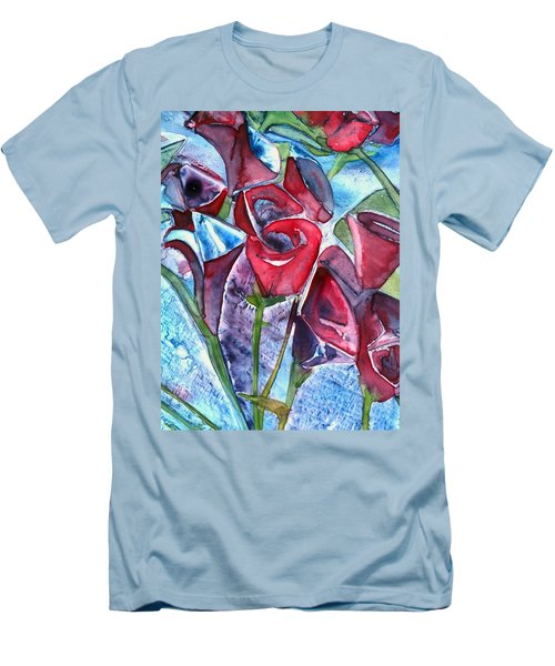 Bouquet Of Roses Men's T-Shirt (Athletic Fit)