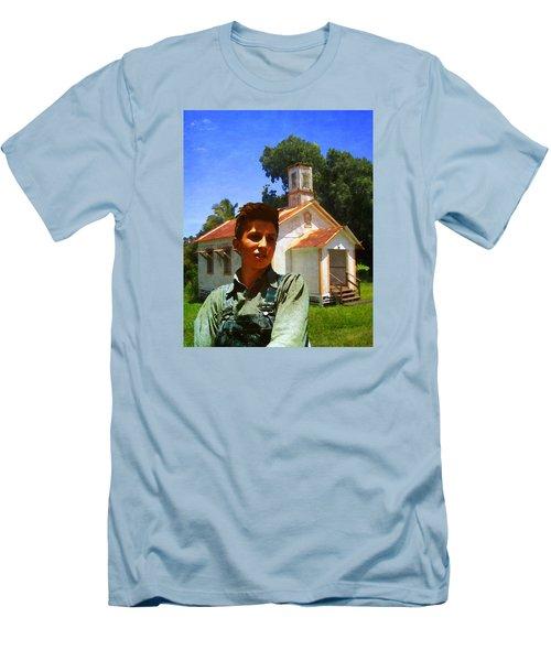 Boy And Church Men's T-Shirt (Slim Fit) by Timothy Bulone