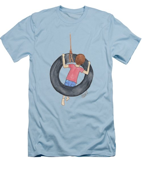Boy On Swing 1 Men's T-Shirt (Athletic Fit)