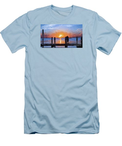 Men's T-Shirt (Slim Fit) featuring the painting Break On Through  by Judy Kay