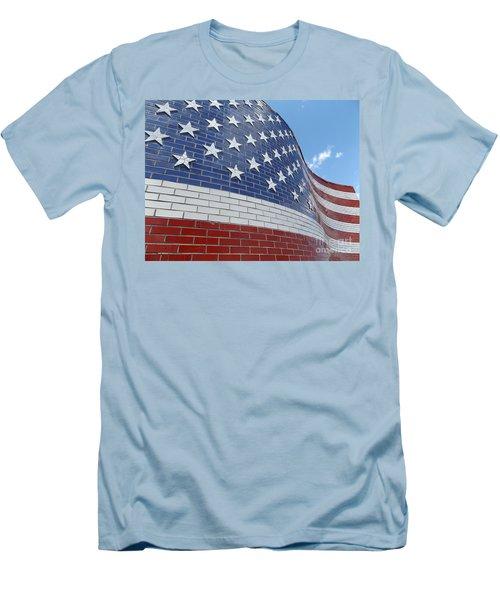 Brick Flag Men's T-Shirt (Slim Fit) by Erick Schmidt