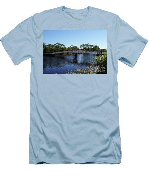 Western Lake Bridge Men's T-Shirt (Athletic Fit)