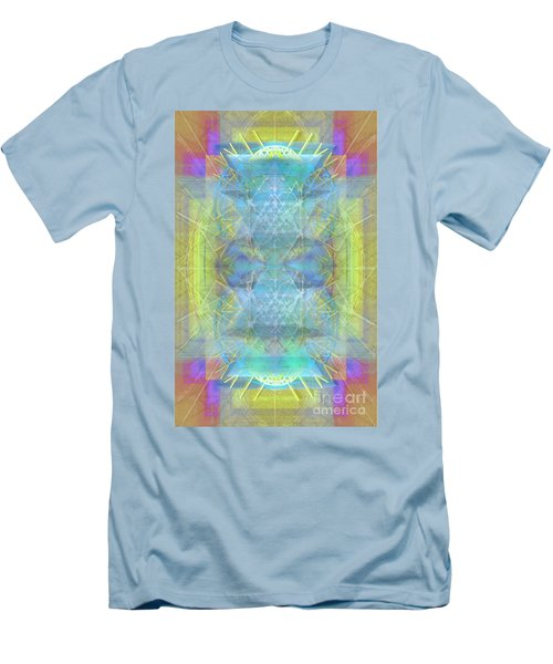 Men's T-Shirt (Slim Fit) featuring the digital art Bright Chalice Ancient Symbol Tapestry by Christopher Pringer