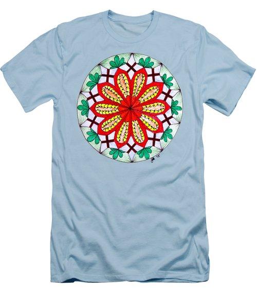 Bright Flower Men's T-Shirt (Slim Fit) by Lori Kingston