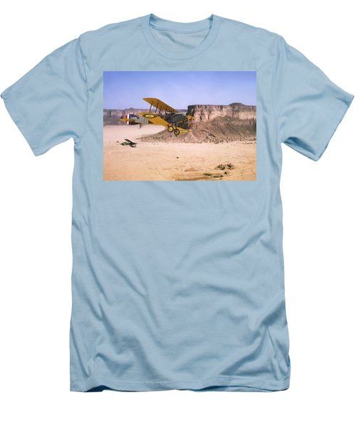 Men's T-Shirt (Slim Fit) featuring the photograph Bristol Fighter - Aden Protectorate  by Pat Speirs