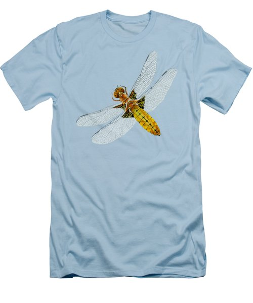 Broad-bodied Chaser Yellow Dragonfly Men's T-Shirt (Athletic Fit)