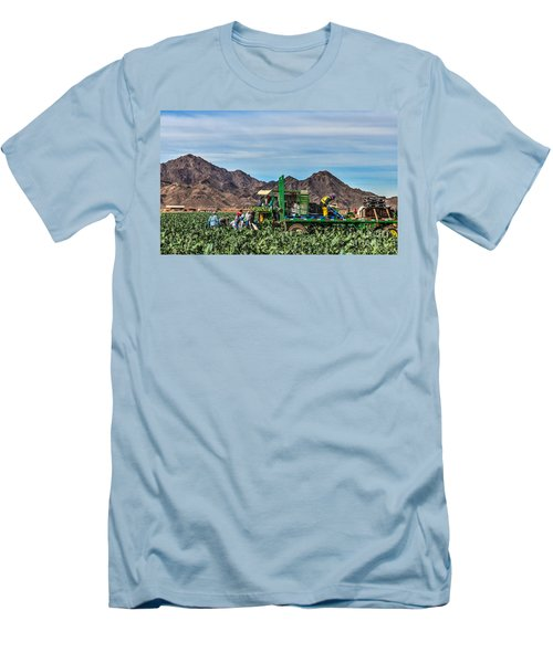 Broccoli Harvest Men's T-Shirt (Slim Fit) by Robert Bales