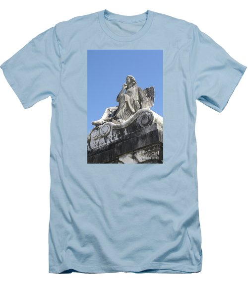 Men's T-Shirt (Slim Fit) featuring the painting Broken Wing by Tbone Oliver