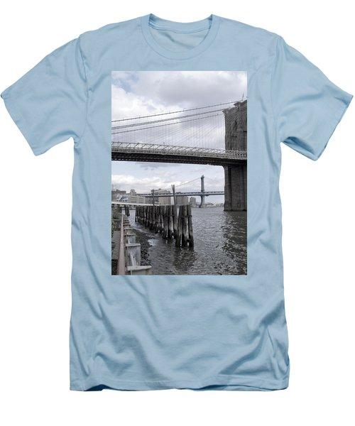 Brooklyn Bridge II Men's T-Shirt (Slim Fit) by Henri Irizarri