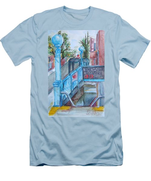 Brooklyn Subway Stop Men's T-Shirt (Athletic Fit)