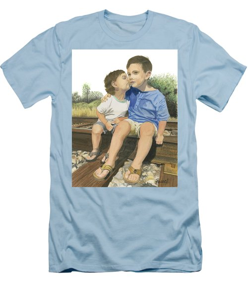 Brotherly Love Men's T-Shirt (Slim Fit) by Ferrel Cordle