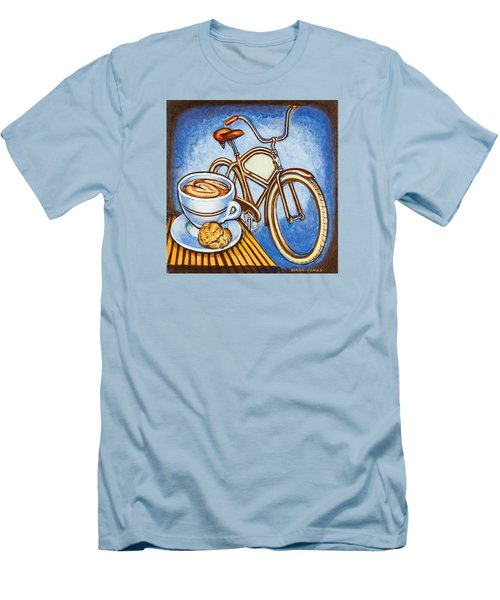 Brown Electra Delivery Bicycle Coffee And Amaretti Men's T-Shirt (Slim Fit) by Mark Jones