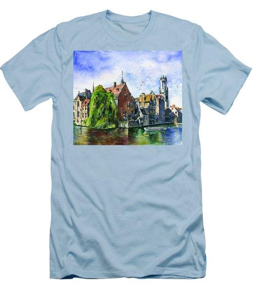 Bruges Belgium Men's T-Shirt (Athletic Fit)