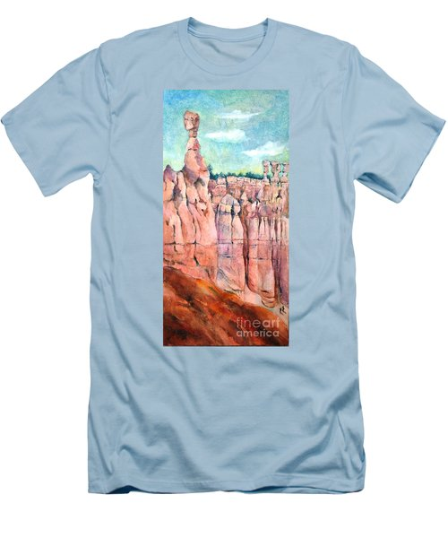 Bryce Canyon #1  Men's T-Shirt (Slim Fit) by Betty M M Wong