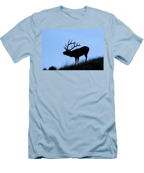 Bull Elk Silhouette Men's T-Shirt (Athletic Fit)