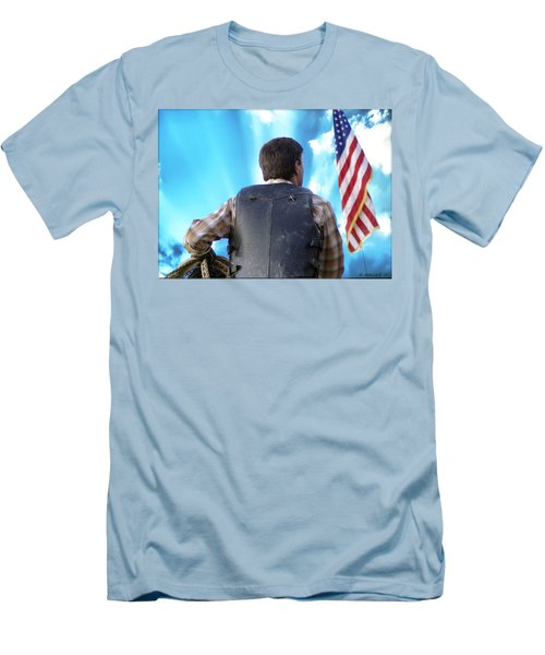Men's T-Shirt (Slim Fit) featuring the photograph Bull Rider by Brian Wallace