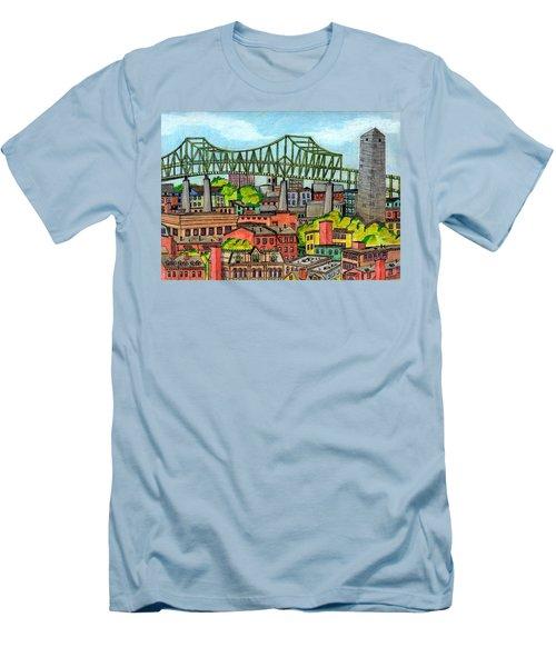 Bunkerhill And Tobin Men's T-Shirt (Athletic Fit)