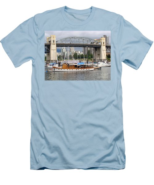 Burrard Street Bridge, Vancouver Men's T-Shirt (Slim Fit) by Rod Jellison